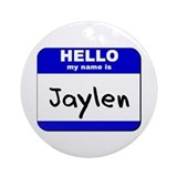 hello my name is jaylen  Ornament (Round)