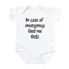 Feed me Oats Infant Bodysuit