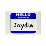 hello my name is jaydin Rectangle Magnet