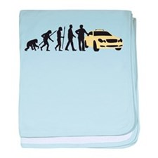 evolution of man taxi driver baby blanket