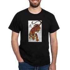 Chinese Tiger Ash Grey T-Shirt