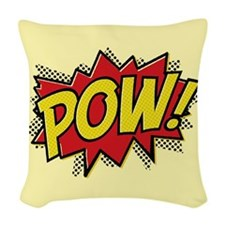 Pow Woven Throw Pillow