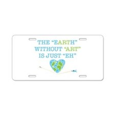 Earth Art Aluminum License Plate