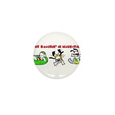 just beachin' in Mauritius Mini Button (100 pack)