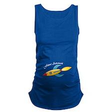 Future Astronaut Rocket Ship Maternity Tank Top