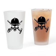 Oilfield Skull Drinking Glass
