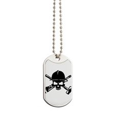 Oilfield Skull Dog Tags