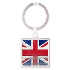 Union Jack Square Keychain