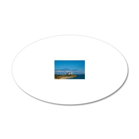 Montauk Point Lighthouse 20x12 Oval Wall Decal