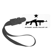 AR15 Gun Come and Take It Luggage Tag