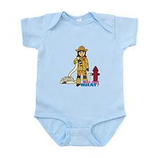 Firefighter Woman Medium Infant Bodysuit
