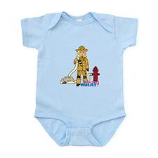 Firefighter Woman Light/Blonde Infant Bodysuit