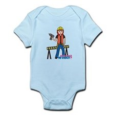 Construction Worker Woman Light/Red Infant Bodysui
