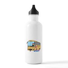 School Bus Driver Light/Red Water Bottle