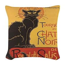 Chat Noir Woven Throw Pillow