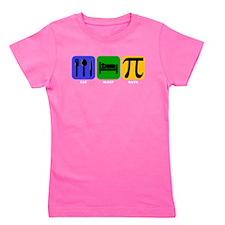 Eat Sleep Math Girl's Tee