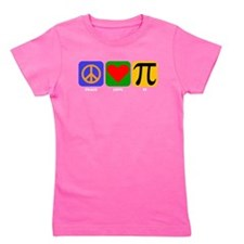 Peace Love Pi Girl's Tee
