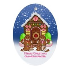 Granddaughter Gingerbread Family Ornament (Oval)