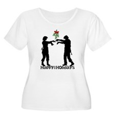 Happy Zombie Holiday Plus Size T-Shirt