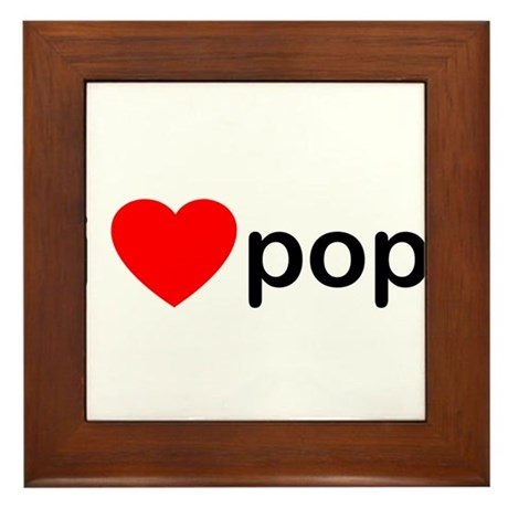 I Heart Pop Framed Tile