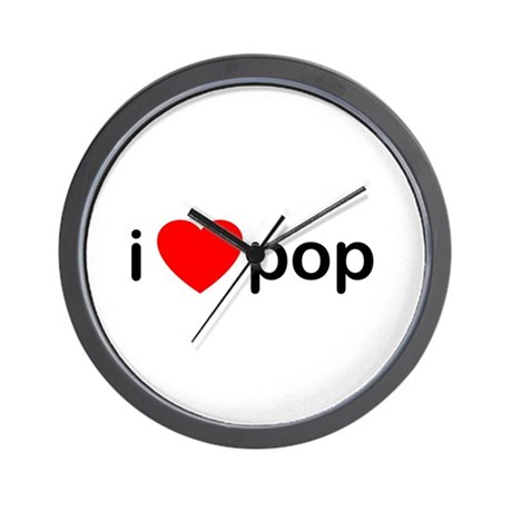 I Heart Pop Wall Clock