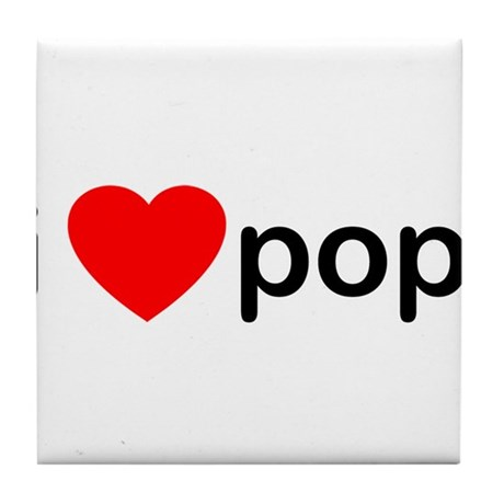 I Heart Pop Tile Coaster