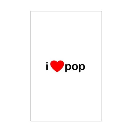 I Heart Pop Mini Poster Print