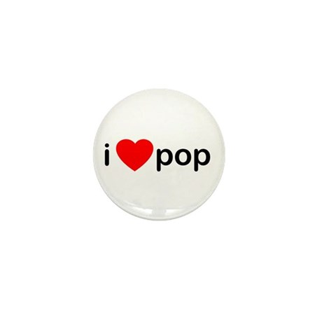 I Heart Pop Mini Button (100 pack)