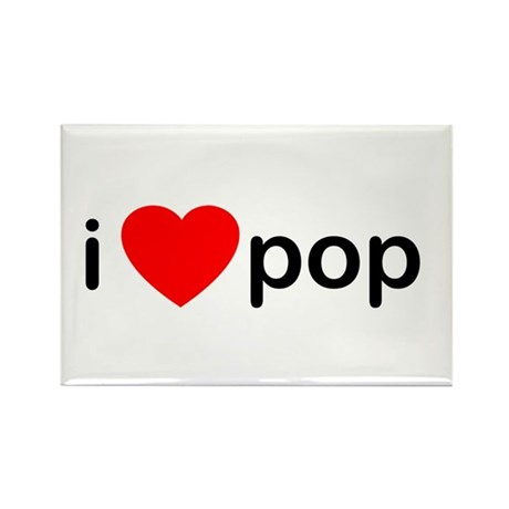 I Heart Pop Rectangle Magnet (100 pack)