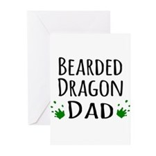 Bearded Dragon Dad Greeting Cards