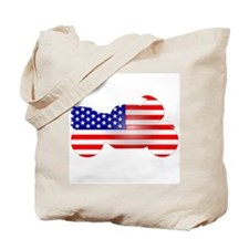 Red, White, & Blue Bike Tote Bag