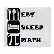 Eat Sleep Math Throw Blanket