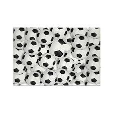 Soccer BAlls Rectangle Magnet (100 pack)