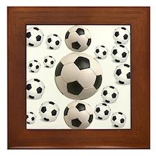 Soccer BAlls Framed Tile