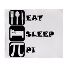 Eat Sleep Pi Throw Blanket
