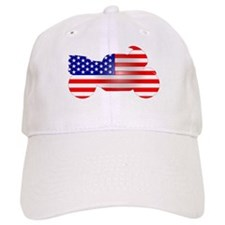 Red, White, & Blue Bike Baseball Cap