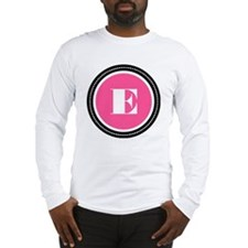 Pink E Monogram Long Sleeve T-Shirt