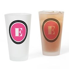 Pink E Monogram Drinking Glass