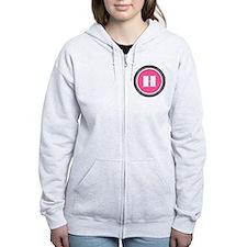 Pink H Monogram Zip Hoody