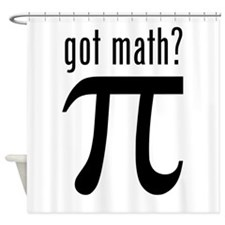 got math? Shower Curtain