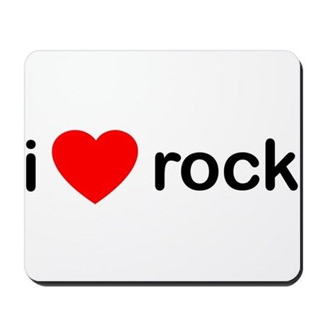 I Heart Rock Mousepad