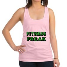 FITNESS FREAK-GREEN Racerback Tank Top