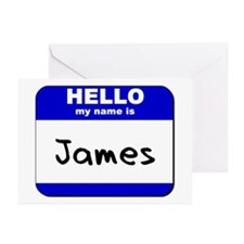 hello my name is james  Greeting Cards (Package of