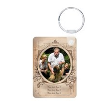 Personalizable Edwardian Photo Frame Keychains
