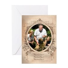 Personalizable Edwardian Photo Frame Greeting Card