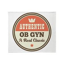 OB GYN Vintage Throw Blanket