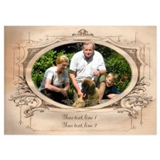 Personalizable Edwardian Photo Frame Invitations