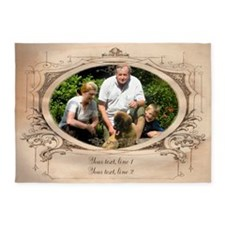 Personalizable Edwardian Photo Frame 5'x7'Area Rug