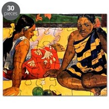 Gauguin - What's New. Painting by Paul Gaug Puzzle