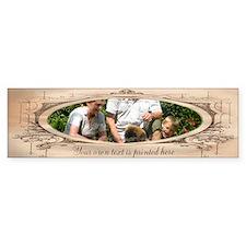 Personalizable Edwardian Photo Frame Bumper Sticker